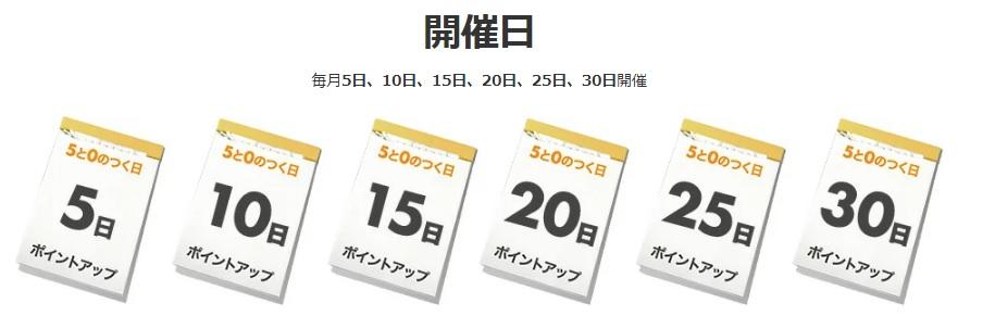 「5と0のつく日」キャンペーンの概要